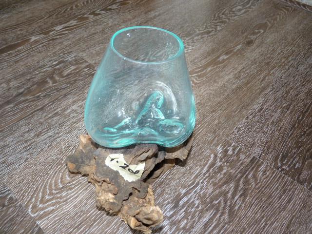 kaffeebaum wurzel mit glas vase s design house binz. Black Bedroom Furniture Sets. Home Design Ideas