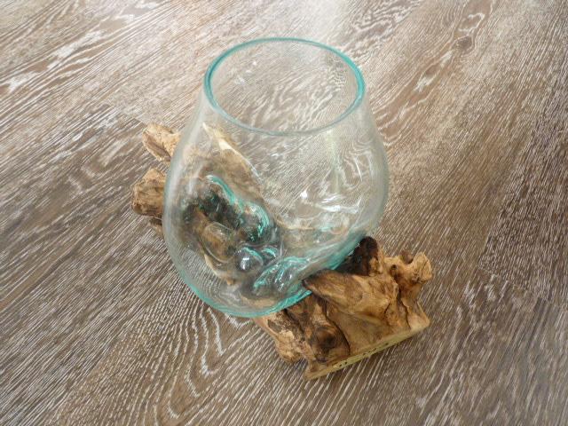 kaffeebaum wurzel mit glas vase m design house binz. Black Bedroom Furniture Sets. Home Design Ideas